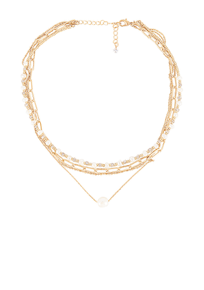 8 Other Reasons Zoe Necklace in Metallic Gold.