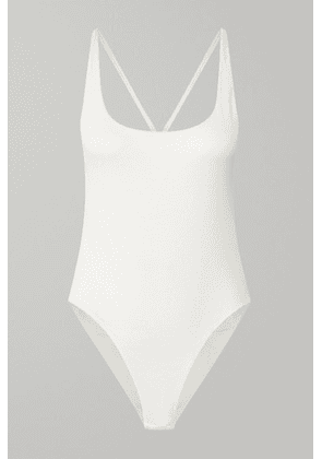 GAUGE81 - Lille Open-back Ribbed Stretch-cotton Jersey Bodysuit - Off-white