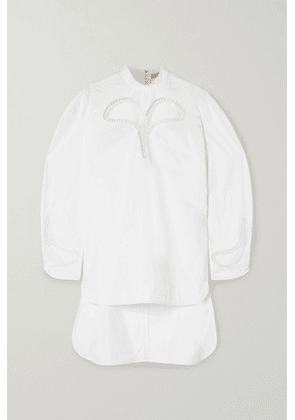 Christopher Kane - Cutout Broderie Anglaise Cotton-poplin Top - White