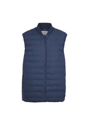 Rains Trekker Navy Quilted Rubberised Gilet