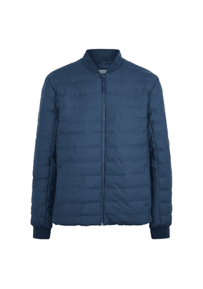Rains Trekker Navy Quilted Rubberised Jacket