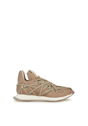 Rick Owens Taupe Lace-up Nubuck Sneakers