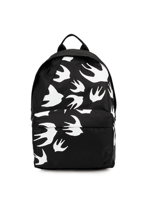 McQ Alexander McQueen Black Swallow-print Nylon Backpack