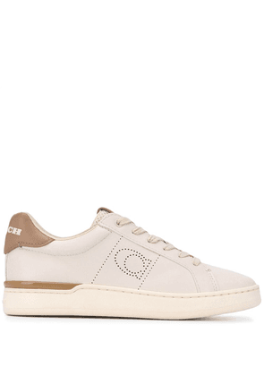 Coach low-top perforated sneakers - Neutrals