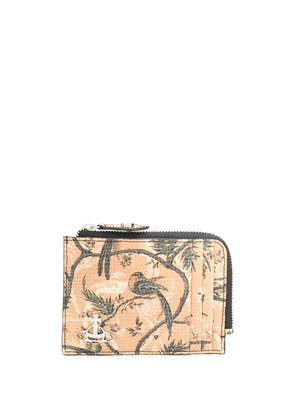 Vivienne Westwood bird-print purse - Brown