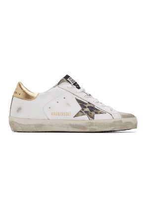 Golden Goose White Spotted Superstar Sneakers