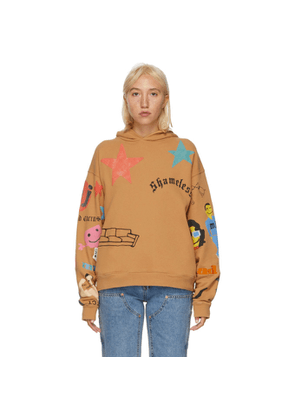 Marc Jacobs Brown CPFM Edition Tattoo Hoodie