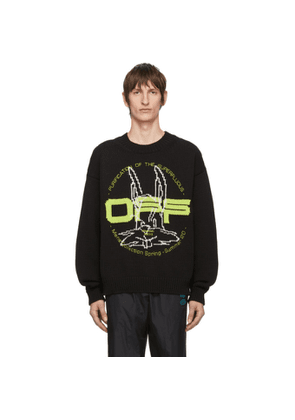 Off-White Black and Green Harry The Rabbit Sweater