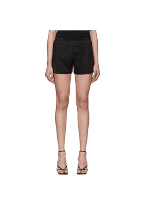 Haider Ackermann Black Silk Shorts
