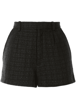 IRO check print shorts - Black