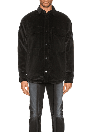 Fear of God Corduroy & Sherpa Lined Shirt Jacket in Black - Black. Size XL (also in ).