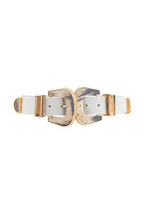 Johanna Ortiz Narrow Western Off White Leather Belt in Off White - White. Size 8 (also in ).