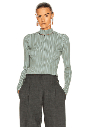 Acne Studios Katina Top in Dusty Green - Green. Size S (also in M,XS).
