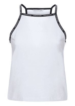 Logo Trim Cotton Jersey Tank Top