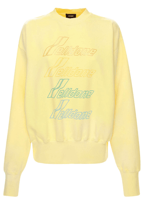 Iridescent Logo Cotton Blend Sweatshirt