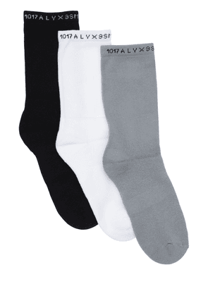 Pack Of 3 Logo Stretch Cotton Socks