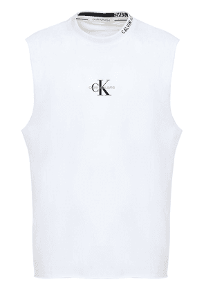 Logo Embroidered Cotton Tank Top