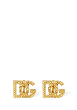 Dg Logo Clip-on Stud Earrings
