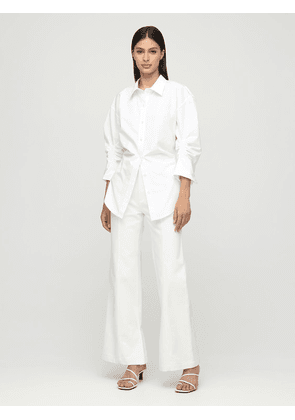 Ruched Cotton Poplin Shirt