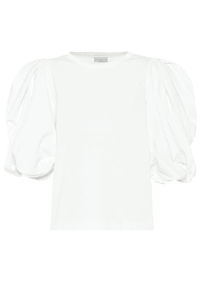 Puff-sleeve cotton top