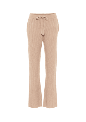Deconstructed Look wool and cashmere-blend trackpants