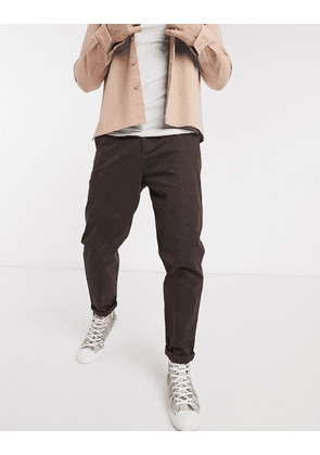 ASOS DESIGN relaxed skater chinos in brown