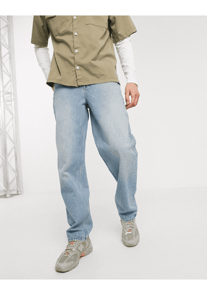 ASOS DESIGN baggy jeans in light wash blue