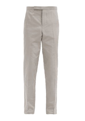 Haider Ackermann - Slim-leg Cotton-blend Rep Suit Trousers - Mens - Grey