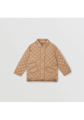 Burberry Childrens Lightweight Diamond Quilted Jacket, Yellow