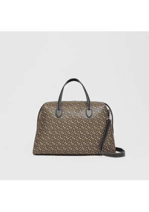 Burberry Monogram Print E-canvas Holdall, Brown