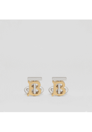 Burberry Monogram Motif Gold and Palladium-plated Cufflinks, Yellow