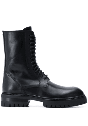 Ann Demeulemeester lace-up military boots - Black