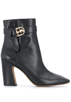Coach square-toe leather ankle boots - Black
