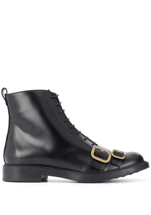 Tod's lace up buckle boots - Black