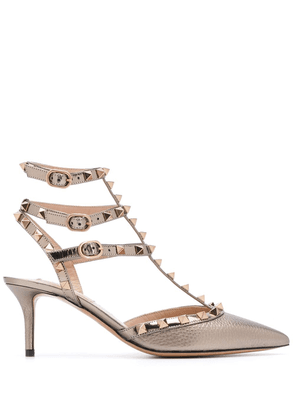 Valentino Garavani Rockstud 70mm pumps - Metallic