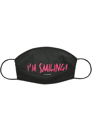 Pinko I'm Smiling slogan face mask - Black