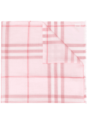 Burberry check-pattern long scarf - Red