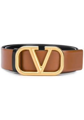 Valentino Garavani logo plaque belt - Brown
