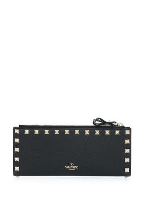 Valentino Garavani Rockstud grainy leather wallet - Black