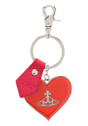 Vivienne Westwood branded heart keyring - Red