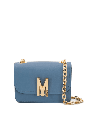 Moschino small M shoulder crossbody bag - Blue