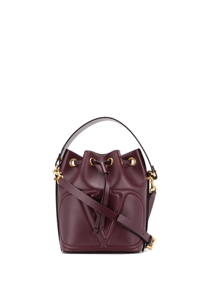 Valentino Garavani small VLOGO bucket bag - PURPLE