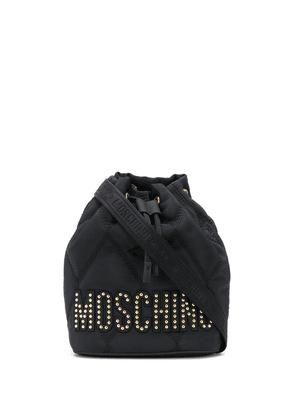 Moschino quilted bucket bag - Black