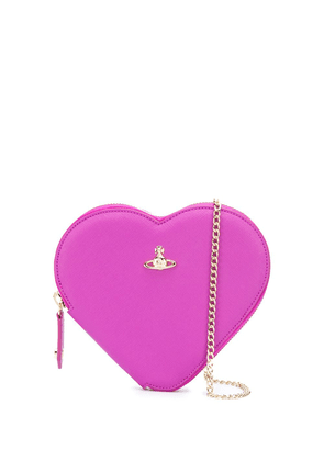 Vivienne Westwood heart cross body bag - PURPLE