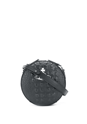 Vivienne Westwood logo plaque croc-effect cross body bag - Black