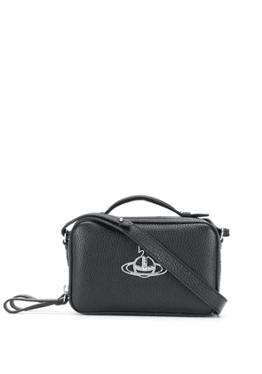 Vivienne Westwood logo plaque tote bag - Black