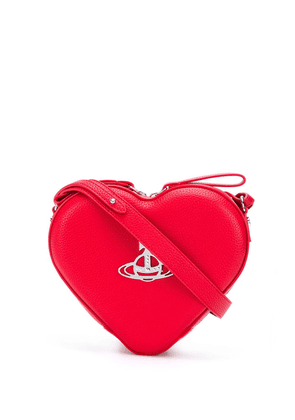 Vivienne Westwood heart logo plaque cross body bag - Red