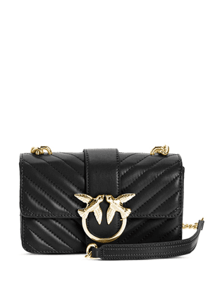 Pinko Love quilted crossbody bag - Black