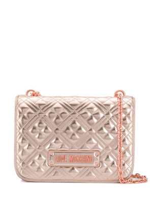 Love Moschino quilted shoulder bag - GOLD