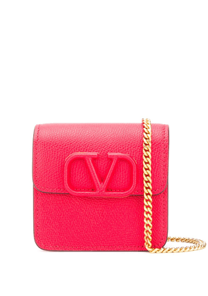 Valentino Garavani VSLING wallet on chain - Red